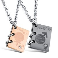 símbolos fêmeas masculinos venda por atacado-Romantic male and female symbol Necklace for women Men Stainless Steel Fashion Jewelry Chain Necklace Pendants LOVE gift