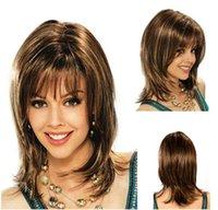 pelucas rubias onduladas al por mayor-100% nuevo a estrenar Imagen de moda de alta calidad pelucas llenas Nuevo largo peluca ondulada platino-rubia