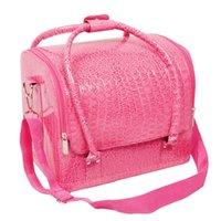 schönheit kosmetikkoffer großhandel-Beauty Vanity Make-up Kosmetik-Box Fall Nagellack Lagerung Make-up Box (Pink)