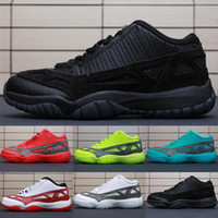 Wholesale red highlighter resale online - Retro Mens s low ie kids basketball shoes highlighter Red Green Blue Oreo Black White BHM youth kids Jumpman XI lows sneakers