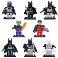 Wholesale batman toys for kids resale online - 8pcs Batman Joker Robin Mini Action Figure With Weapon Building Block Toy For Kid Children