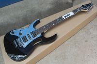 Wholesale hollow electric guitar pickup resale online - Top Quality New Arrival JEM V black left handed DiMarzio Pickup Electric Guitar In stock