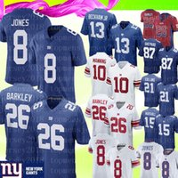 football jerseys toptan satış-26 Saquon Barkley Forması New York Giants Forması 10 Eli Manning 8 Daniel Jones Formaları 15 Brandon Marshall 21 Collins 87 Shepard Futbol