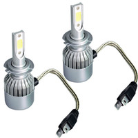 светодиодное освещение для фар автомобилей оптовых-Новый автомобиль фары универсальный C6 светодиодные фары яркий дальний свет лампы H7H1H4H11H9 9005 9007 9006 автомобильные фары
