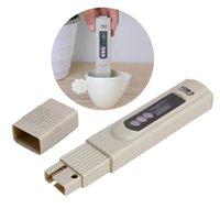 probador de tds ppm al por mayor-Analizador de medidor de TDS digital TEMP PPM Tester Pen Medidores LCD Stick Pureza del agua Monitores Mini filtro Probadores hidropónicos Analizadores de caja de papel TDS3