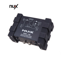 kompakte gitarre großhandel-NUX PDI-1G Gitarre Direkteinspritzung Phantom Power Box Audiomischer Para Out Kompaktes Design Metallgehäuse Gitarrenset