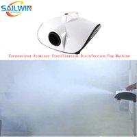 1000W Disinfection Smoke Fog Machine Atomizer Sprayer Sterilizer Disinfector Equipment For Home Party Office Event Nano Steam Gun Sprayer