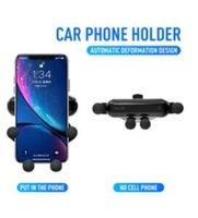 autohalter verpackung großhandel-Dies ist ein Air Vent Mount Handyhalter für Smartphones Autohalterung Schwerkraftsensor Halterung im Kleinpaket 20 Stück DHL