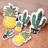 ev dekor ananas toptan satış-TPFOCUS New'in 1 Adet Karikatür Benzet Bitki Peluş Yumuşak Yastık Ev Dekorasyonu Sevimli Karikatür Oyuncak Bebek Dekoratif Hediye ananas