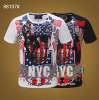 высокое качество tshirt оптовых-2019 Дизайн бренда Summer Street Wear Европа Мода Мужчины Высокого Качества Хлопка Футболка Повседневная Футболка С Коротким Рукавом # 55252