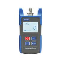 laser de câble de fibre optique achat en gros de-Souce de lumière à fibre optique, testeur de source laser optique pour CATV, outils de test de réseau de câbles FTTH, instrument de test optique de fibre