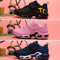 Wholesale girl casual lace shoes for sale - Group buy Kids baby plus tn boy girl shoe For children high quality classic parent child athletic outdoor mix sneaker black casual shoes size28