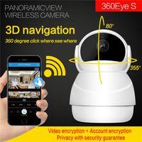 Wholesale wireless internet for sale - Group buy Snowman D Navigation Wifi internet video camera P night vision wireless camera way audio PTZ roatation Motion detection