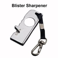 Wholesale blister car online - Outdoor Gear Kimter Mini Field Blister Sharpener Keychain Knife Camping Pocket EDC Cutting Tools Sharpner Christmas Gift P462R Q