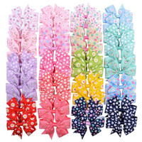 Wholesale hair clip ribbon grosgrain flower for sale - Group buy 20 Inch Flower Print Grosgrain Ribbon Bows With Clip Hairpins For Kids Girl Hair Accessories Beautiful HuiLin C276