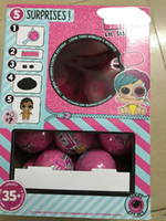 Wholesale sister gifts resale online - 1Pc Original Doll In Ball LoL Series Little Sister Dolls Color Change Baby Child Toy With Accessories Good Xmas Gifts For Children