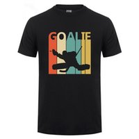 mes xl eishockey-tops großhandel-T-Shirt Design Basic Top Comfort Weiche Oansatz-Oberteil 2019 Vintage Retro Eishockey-Tormann Kurzarm-Herrenhemd