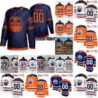 edmonton jugend großhandel-Customized Edmonton Oilers 2019 NEW Marineblau Third Jersey Gewohnheit irgendeine Männer Nummer Name Frauen Jugend Kind Weiß Orange McDavid Gretzky Neal 4XL