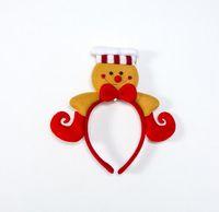sanktstöcke großhandel-4 Style Weihnachten Haar klebt Mädchen Weihnachten Schneemann und Weihnachtsmann-Entwurf Haarband Kinder-Haar-Zusatz für das Weihnachtsfest