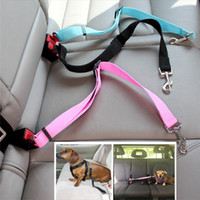 Wholesale accessories for travel resale online - Animal dog pet car safety seat belt harness restraint lead leash travel clip dogs supplies accessories for tseat belts