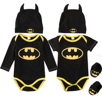 a9484bfe4fe Wholesale batman winter hats for sale - Fashion Batman Baby Boys Rompers  Jumpsuit Cotton Tops Shoes