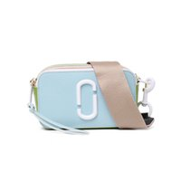 Wholesale square cameras resale online - Fashion Brand Design Camera Bag Trendy Patchwork Ladies Shoulder Bag Women Contrast Leather Bags Small Square Crossbody Bags