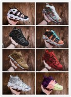 Wholesale sporting goods soccer shoes for sale - Group buy 2019 More Uptempo White Chrome Uptempo Scottie Pippen Basketball Shoes Good Quality Blue White Chaussures Mens Sneakers Sports SIZE