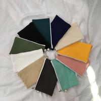 kalemler için fermuar torbalar toptan satış-Sadelik 14 renkler boş tuval fermuar Kalem durumlarda kalem torbalar pamuk kozmetik Çanta makyaj çantaları Cep telefonu debriyaj çanta ZJ1308