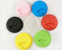 silikon kap kapakları toptan satış-12oz / 16oz Bardaklar Epacket için 9cm Silikon Bardak Kapakları Yaratıcı Kupa Kapak Gıdaya Uygun Yeniden kullanılabilir Çay Kahve Bardak Kapağı Anti-toz Hava geçirmez Mühür Kapak