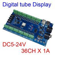controlador dmx led venda por atacado-36CH DMX 512 dimmer controlador, 36 canal DMX descodificador 13group saída RGB, LED DMX 512 do piloto, faixa de LED controlador de 3 pinos MAX 3A XRL
