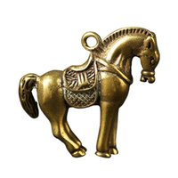 Wholesale brass horse jewelry resale online - Key Chain Pendant Brass Horse Pig Cattle Cicada Shape Keychain Pendant Jewelry Purse Keyring Handbag Accessories only