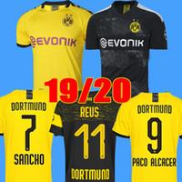 Wholesale xxl thai soccer for sale - Group buy Thai BVB Borussia Dortmund Soccer Jersey GOTZE REUS BRANDT HUMMELS Jersey PACO ALCACER Football kit TOP shirt MEN kids sets