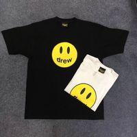 bieber de justin camiseta venda por atacado-Drew Casa Camiseta Justin Bieber Streetwear de Alta Qualidade Drew House Top Tees Casal Ocasional Amantes Cara Drew T-Shirts