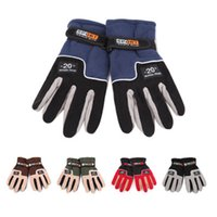Wholesale thermal cycling for sale - Group buy Adjustable Gloves Men Women Full Finger Fleece Outdoor Windproof Thermal Winter Ski Cycling Skiing Hiking Gloves LJJZ540