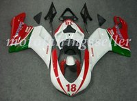 Wholesale abs fairing mold resale online - 3 Gifts Injection Mold New ABS Motorcycle Fairings Kits Fit For Ducati bodywork set Red White Green