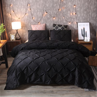 kral yatak takımları toptan satış-Yatak Takımları Yeni Lüks 3 adet Siyah 4 Boyutu Çarşaf Nevresim Setleri Hediye Nevresim Polyester Elyaf ev Otel