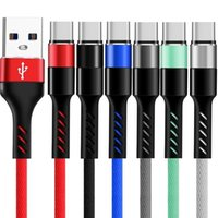 Wholesale tablet pc 8.9 resale online - High Speed A Quick Charging Type c Usb C Micro Usb Alloy Aluminum braided nylon cable for Samsung s8 s9 s10 note htc pc tablet phone