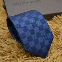 cor da lavanda gravatas venda por atacado-2019Top usiness tie homens moda casual 8 cm de luxo do vintage designer de empate caixa de marca embalagem