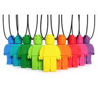 autismus halsketten großhandel-Kauen Geck Silikon Anhänger Halskette Baby Beißring Lebensmittelqualität Silikon kaubare Figur Halskette sensorische Spielzeug für Autismus