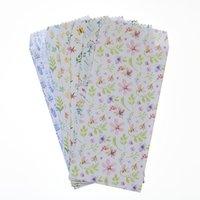 umschlag tasche blumen großhandel-6 Teile / los Neue Gebrochene Blumen Gras Umschlag Postkarte Luftfahrt Schreibwaren Hochzeit Schule Büro Mail Papier Umschlag Tasche
