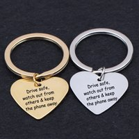 семейство телефонов оптовых-Key Chain Customed Drive Watch Out From Others & Keep The Phone Away Family Couple Expression The Care To Driver