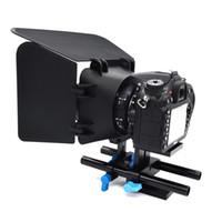 afe9059fe 15mm Rail Rod Sistema de Suporte DSLR Camera Mount Suporte de Placa de Base  para Follow Focus Matte Box SD998
