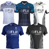 Wholesale News FIJI Home and away rugby Jerseys Singlet League shirt Fiji s Rugby Shirt plus size XXXL XL XL