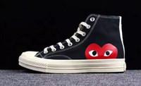 sapatos pvc coração venda por atacado-2019 New Chuck Shoes 1970 Clássico Lona Casual Jogar Em Conjunto Big Eyes Alta Top Dot Coração Das Mulheres Dos Homens de Moda Tênis De Designer Sapatilhas