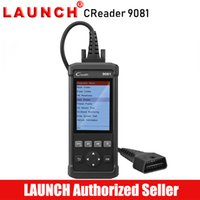 otomatik tarama başlat toptan satış-LAUNCH Creader 9081 Araba Sıfırlama Aracı OBD2 Tarayıcı Otomotiv Sıfırlama Servis Araçları Otomatik Teşhis Tarama Teşhis Autoscanner