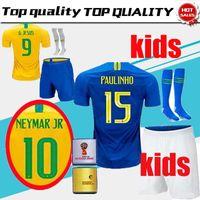 World Cup 2018 kids kit Coutinho Gesus Firmino Home Soccer Jerseys Brazil  Futbol Camisa Brasil Football Camisetas Shirt Kit Maillot 648080265