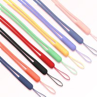 Wholesale cell phone lanyard cord resale online - Colorful Silicone Phone Strap Cord Sport Lanyards For iphone Samsung Fashion Rubber Keychains Cell Phone Charms