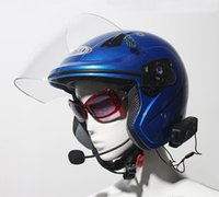 çift bantlı vhf uhf el tipi toptan satış-2PCS Yüksek Kaliteli V2-500M Bluetooth Motosiklet Kaskı Intercom interp bilemek 2 Riders BT Walkie Talkie İçin Kayak Bisiklet Kask JH-1483