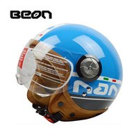 Wholesale xl blue motorcycle helmet for sale - Group buy 2019 New summer spring motocross Riding BEON Helmet ABS moto half face motorcycle scooter electric headpiece for men women PC