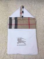 Wholesale newborn baby quilts resale online - NEW Brand Baby boy Sleeping bag Plaid warhorse embroidery Newborn Sleeping Bag Autumn winter quilt
